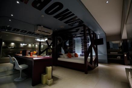 BRA01. SAO PAULO (BRASIL), 11/06/18. - Instalaciones de un motel en el centro de Sao Paulo preparado para recibir a las parejas que desean celebrar el Día de los Enamorados este martes (12). EFE/Marcelo Chello