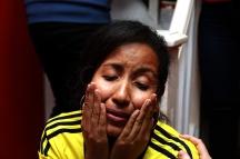 BRA66. SAO PAULO (BRASIL), 03/07/18. - Los torneos colombianos acompañan el partido contra la selección inglesa por los octavos de final del Mundial de Rusia 2018, el martes 3 de julio, en el bar colombiano Gorgona, en Sao Paulo. EFE/Marcelo Chello