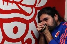 BRA67. SAO PAULO (BRASIL), 03/07/18. - Los torneos colombianos acompañan el partido contra la selección inglesa por los octavos de final del Mundial de Rusia 2018, el martes 3 de julio, en el bar colombiano Gorgona, en Sao Paulo. EFE/Marcelo Chello