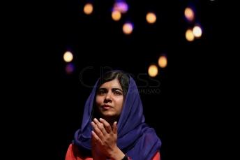 BRA58. SAO PAULO (BRASIL), 09/07/18. - La activista paquistaní y el Premio Nobel de la Paz, Malala Yousafzai, participó el lunes 9 de julio en Sao Paulo, de un debate sobre educación y empoderamiento femenino. EFE/Marcelo Chello