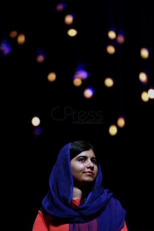 BRA59. SAO PAULO (BRASIL), 09/07/18. - La activista paquistaní y el Premio Nobel de la Paz, Malala Yousafzai, participó el lunes 9 de julio en Sao Paulo, de un debate sobre educación y empoderamiento femenino. EFE/Marcelo Chello
