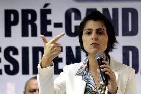 A pré-candidata à Presidência da República pelo PCdoB, Manuela d'Ávilla, participou de encontro na sede da Força Sindical, em São Paulo, nesta terça-feira, 17. Foto: Marcelo Chello/CJPress