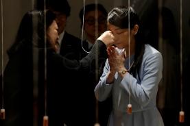 """S""""o Paulo (SP), 22/07/2018, Princesa Mako do Jap""""o, visita exposiÁ""""o em S""""o Paulo - A princesa Mako, da famÌlia real do Jap""""o, visitou neste domingo, 22, a exposiÁ""""o Aromas e Sabores na Japan House, em S""""o Paulo. Foto: Marcelo Chello/CJPress/AgÍncia O Globo"""