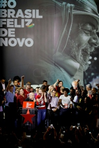 Aug, 2018 - During a national convention on Saturday, 4, the Workers' Party (PT) officialized the candidacy of former President Lula to run for the presidency of the republic in the October elections. Lula remains in custody at the federal police headquarters in the city of Curitiba since April to serve 12 years and 1 month in prison for corruption and money laundering crimes. (Credit Image: - CJPress/ZUMA Wire/ZUMAPRESS.com)