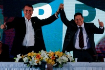 Aug, 2018 - JAIR MESSIAS BOLSONARO (left), a leading candidate in electoral polls for the presidency of the Republic of Brazil, if former President Lula is barred from running, announced Sunday (5), the military general of the reserve, HAMILTON MOURÃO as vice candidate on his campaign plaque. MOURÃO has previously declared its support for a possible military intervention if corruption in the country were not owned by the responsible institutions. (Credit Image: - CJPress/ZUMA Wire/ZUMAPRESS.com)