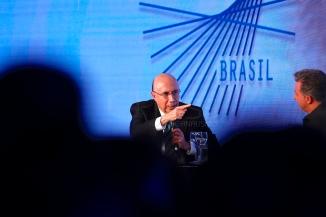 São Paulo (SP), 07/08/2018, Presidenciáveis são sabatinados em SP - O candidato à presidência da república pelo MDB, Henrique Meirelles, foi sabatinado durante o fórum GovTech Brasil 2018, nesta terça-feira(7), em São Paulo. Foto: Marcelo Chello/CJPress/Agência O Globo