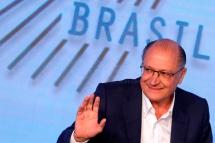 São Paulo (SP), 07/08/2018, Presidenciáveis são sabatinados em SP - O candidato à presidência da república pelo PSDB, Geraldo Alckmin, foi sabatinado durante o fórum GovTech Brasil 2018, nesta terça-feira(7), em São Paulo. Foto: Marcelo Chello/CJPress/Agência O Globo