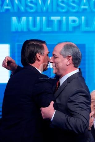 Jairo Bolsonaro(left), Ciro Gomes