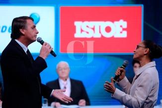 Jair Bolsonaro(left), Marina Silva