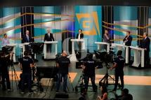 Candidatos no 3o. Debate do primeiro turno das eleições